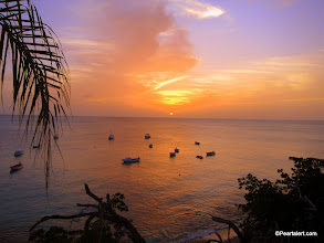 Photo: Sunset, April 20, 2013 from All West Apt., Westpunt, Curacao