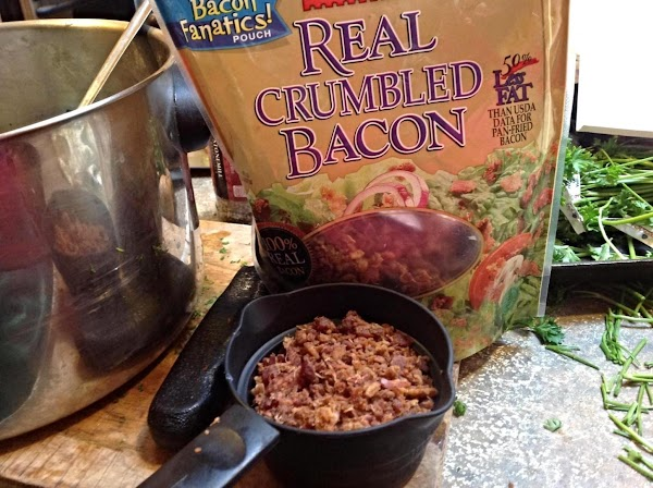 If you are using bacon that you cook yourself, heat skillet till very hot,...