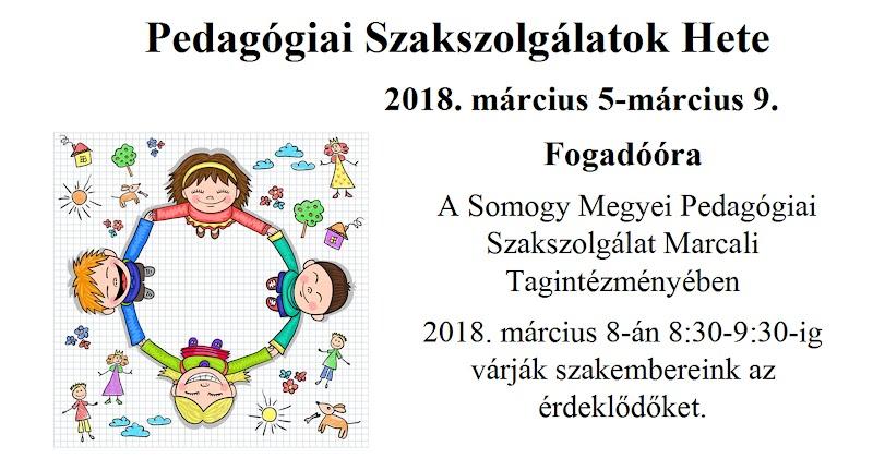 Fogadóóra - SMPSZ Marcali Tagintézményében 2018. március 8