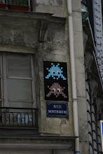 Photo: treet art -Space invaders - Paris IIe - rue Montmartre