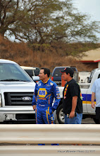 Photo: NHRA Full Power series/Don Schumacher Racing Funny Car star, Ron Capps with VITA board member, Mark Caires.