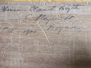 Photo: CH66 - handwritten inscription on base of the accompanying box, dated as Oct. 1900 (the address being at Bognor, in England)