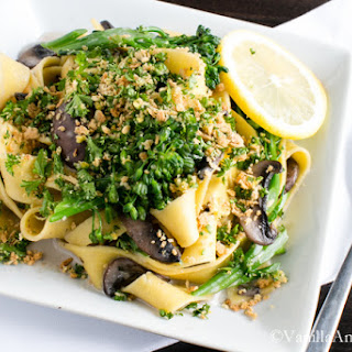 Pappardelle with Broccolini and Crunchy Gremolata