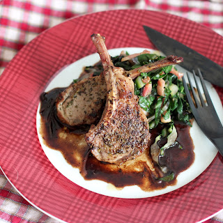 Lamb Chops with Herbs and Balsamic Sauce
