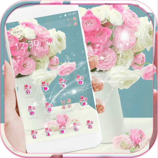 Pink Rose Theme for Launcher Rose Love file APK for Gaming PC/PS3/PS4 Smart TV