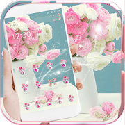 Pink Rose Theme for Launcher Rose Love