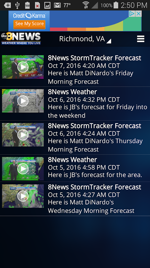 8News Weather Where You Live- screenshot