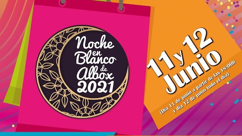 Detalle del cartel de la Noche en Blanco de Albox.