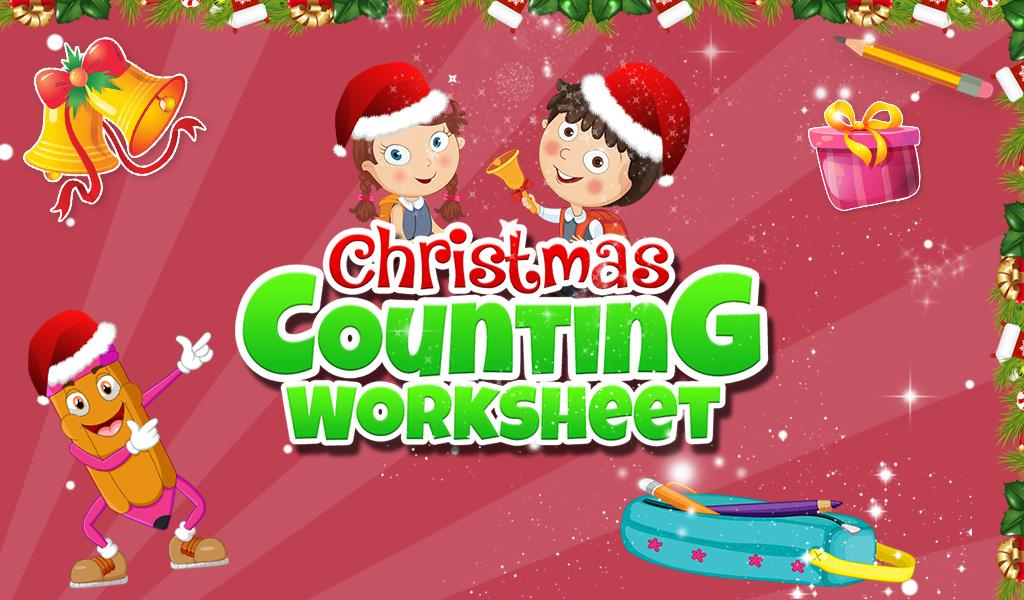 Christmas Counting Worksheet- screenshot