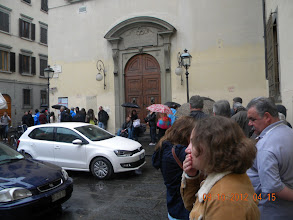 Photo: Queue outside Accademia Gallery - waiting to see David