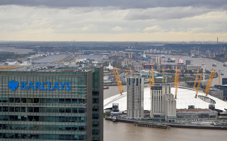 A Barclays bank building is seen at Canary Wharf in London, Britain. File photo: REUTERS