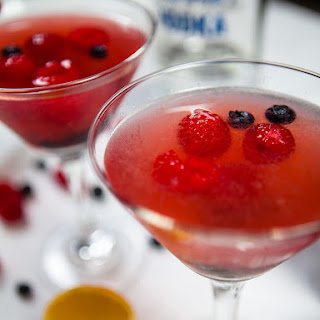 Berry Tea Martini Drinks