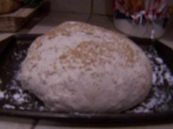 set blob onto floured cookie sheet and brush with sesame oil, then sprinkle salt...