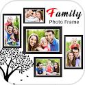 Family photo frame icon