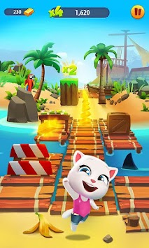Talking Tom Corrida Do Ouro APK screenshot thumbnail 2