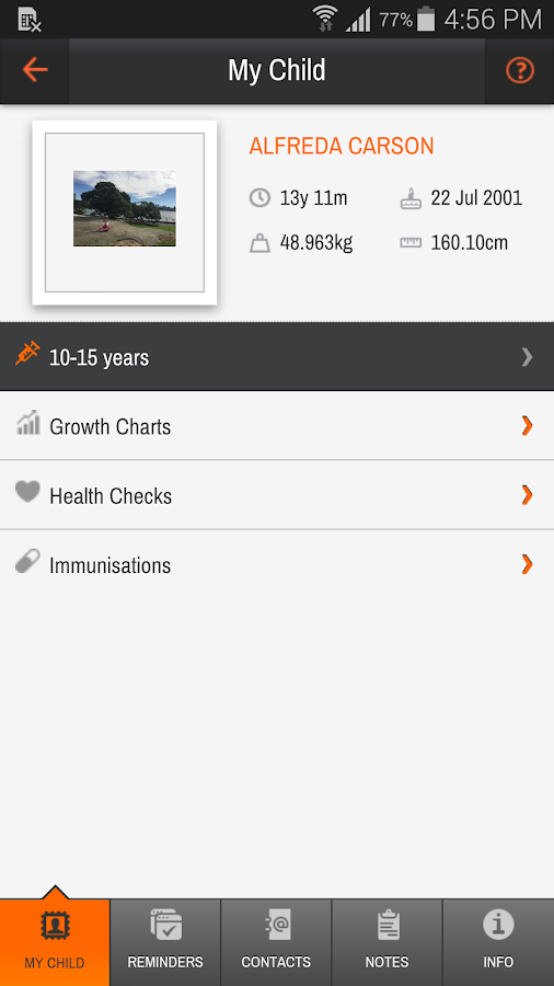 My Child's eHealth Record- screenshot