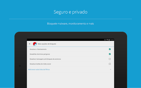 Adblock Browser para Android Screenshot