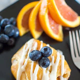 Peach Croissants with Orange Liqueur Icing.