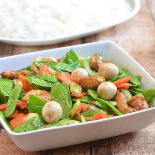 Snow Peas and Shrimp Stir-fry.