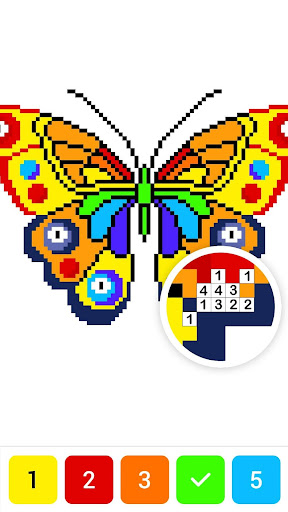 Draw.ly - Color by Number Pixel Art Coloring - screenshot