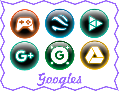 Glass Neon - Icon Pack Screenshot