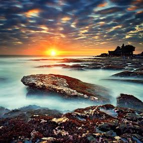 Tanah Lot Nightfall by Hendri Suhandi - Landscapes Beaches ( bali, sunset, beach, tanah lot )