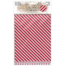Tim Holtz Idea-Ology Adhesive Deco Sheets 6/Pkg - Christmas Glittered UTGÅENDE