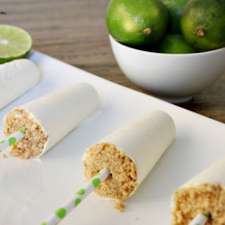 Lime Cheesecake Popsicles
