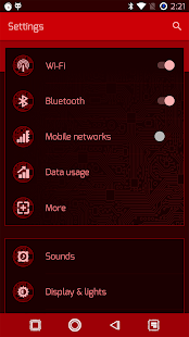 PCB Red ⁞ CM13 Theme- screenshot thumbnail