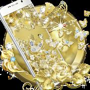 App Gold Butterfly Diamond Theme APK for Windows Phone