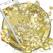Gold Butterfly Diamond Theme