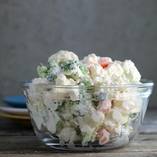 Cauliflower Broccoli Salad.