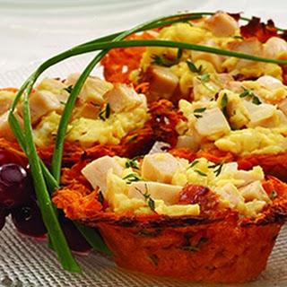 Chicken & Eggs in a Sweet Potato Nest Recipe