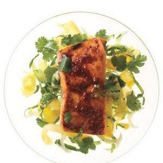 Red Curry-Glazed Salmon.