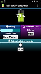 show battery percentage- screenshot thumbnail
