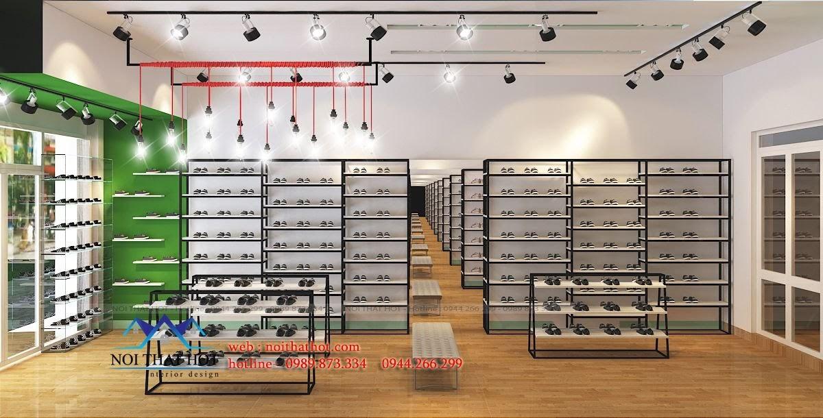 thiết kế shop giày dép trẻ em ấn tượng