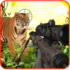 Animal shooting hunter game icon
