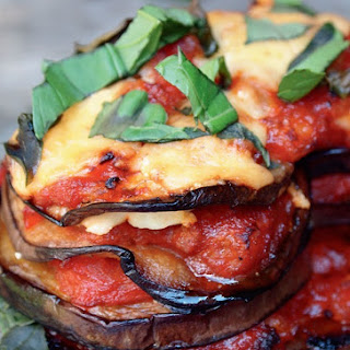 Cheese and Eggplant Oven Bake.