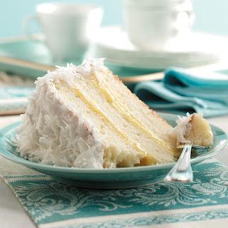 Lemon-Filled Coconut Cake.