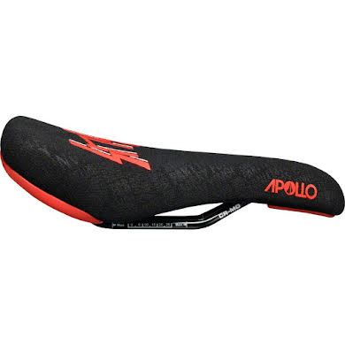 SDG Apollo Sensus Saddle: Chromoly Rails, 1pc Black Aramid Embossed Cover with Red Sensus Logo and Color