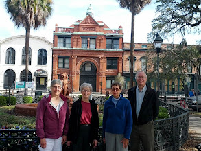 Photo: Jane, Maxine, Elinor, Fred along Bay Street in Savannah
