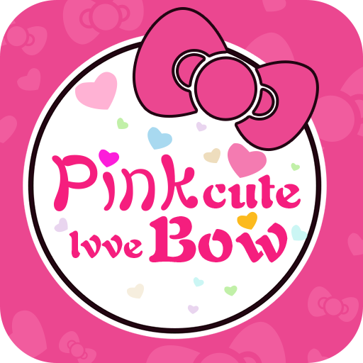 Cute cartoon bow Pink theme (app)