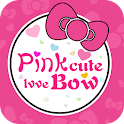 Cute cartoon bow Pink theme icon