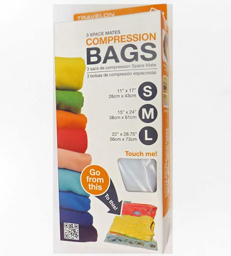 Travel On compression bags helps you make room for the extras in your suitcase.
