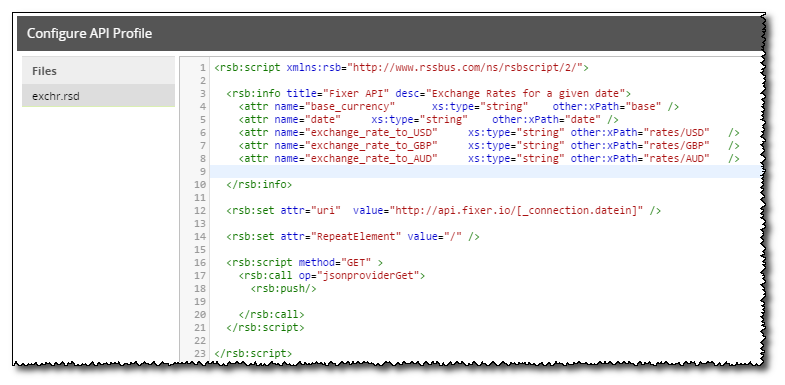 Using Parameters With API Profiles