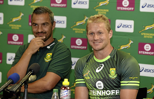 Fired up: Blitzbok coach Neil Powell, left, and captain Philip Snyman hope to carry the team's excellent form over to this weekend's tournament in the Mother City. Picture: THINUS MARITZ/GALLO IMAGES