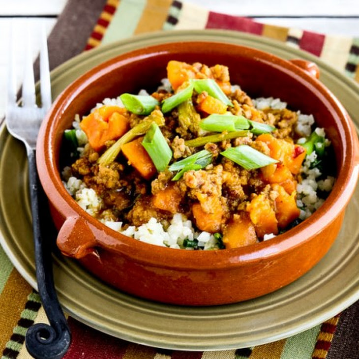 CrockPot Sweet and Spicy Ground Turkey and Sweet Potato Stew Recipe with Coconut Milk
