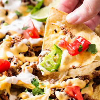 Sheet Pan Beef and Black Bean Nachos.