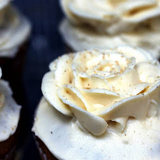 Pumpkin Cupcakes With Maple–Cream Cheese Frosting.