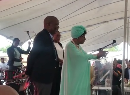 Julius Malema and Winnie Madikizela-Mandela at the People's Bae's graduation ceremony.